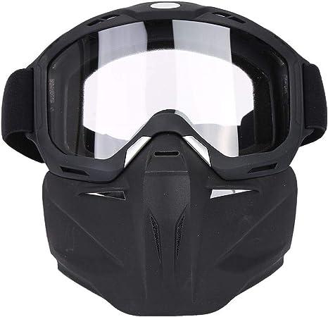 Gafas de M/áscara de Ciclismo de Casco Desmontables Gafas de M/áscara de Esqu/í Gafas de Carreras para Mujeres y Hombres para Snowboard Motocicleta Moto Tbest Gafas Mascara Motocross