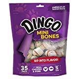 Dingo Mini Bones, Rawhide for Small/Toy Dogs, 35-Count (Pack of 6)