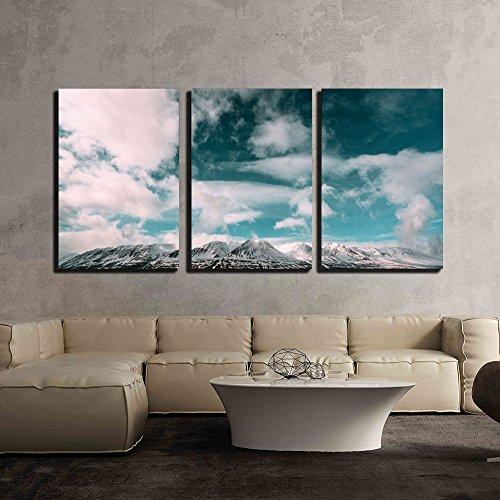 Landscape of Snow Mountain under the White Cloud x3 Panels