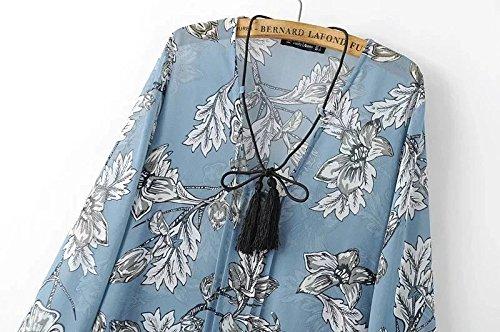 La nueva gasa pajarita vestido largo de la playa Coffee