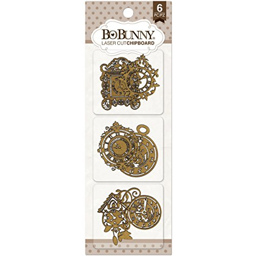 Laser Cut Shapes - Bo Bunny BBC-15867 Timepiece Laser-Cut Chipboard, 3.5 x 9