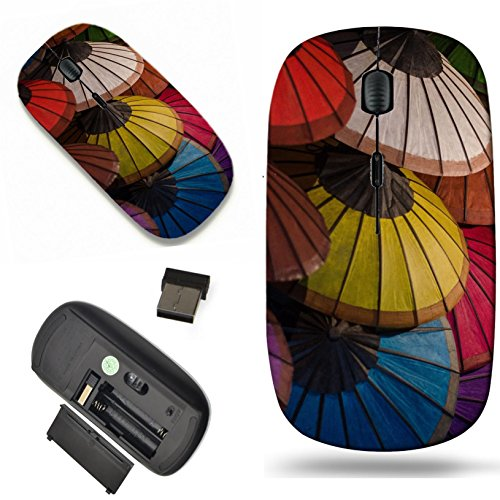 Luxlady Wireless Mouse Travel 2.4G Wireless Mice with USB Receiver, 1000 DPI for notebook, pc, laptop, macdesign IMAGE ID: 25126045 Thai Hand made color paper (Thai Handmade Paper)