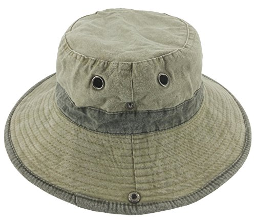 08f6c8be0b15d Ledamon Men s Sun Hat Fisherman Hat Outdoor Uv Protection Washed Cotton Cap  (Khaki)
