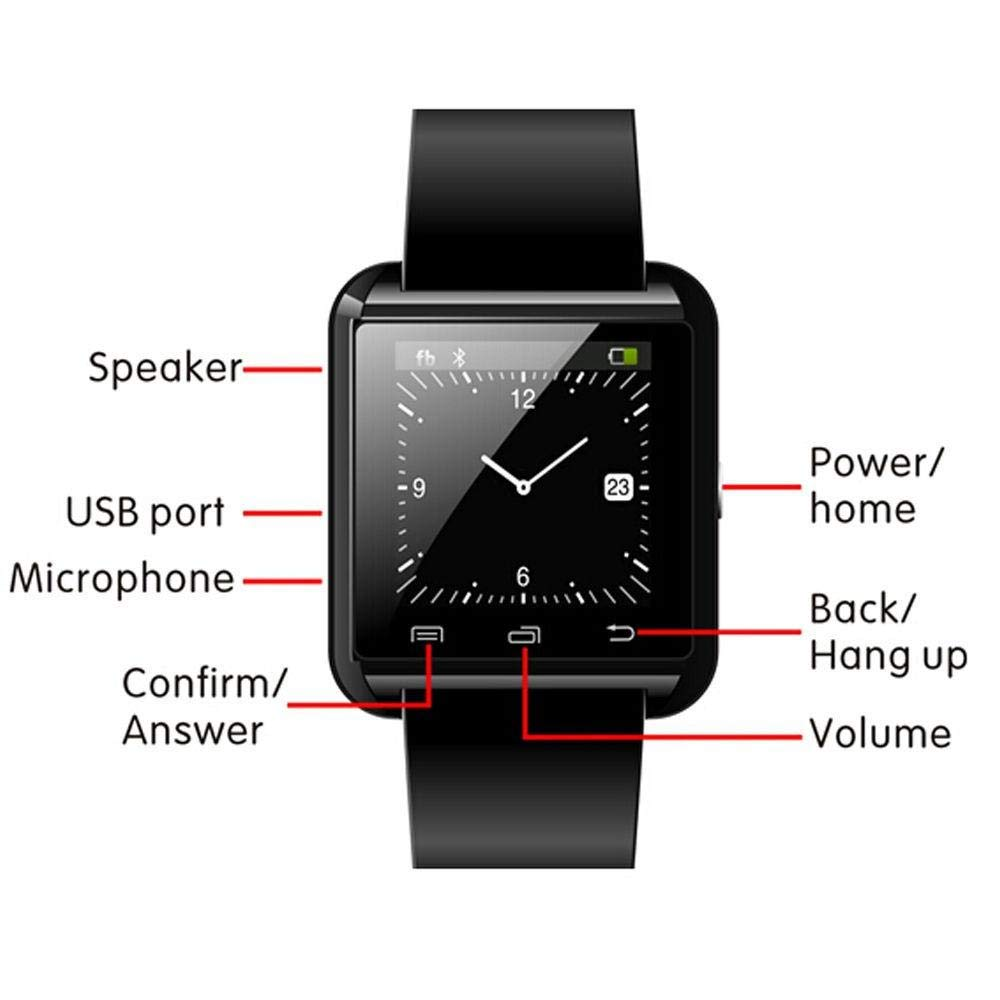 Amazon.com: LPENGBXB U8 Smartwatch Outdoor Sports Bluetooth ...