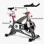 NXX-Bici-da-FitnessAllenamento-Spin-Bike-Cyclette-AEROBICO-Home-Trainer-per-Manubrio-E-Sedile-Regolabili-per-La-Casa-Volano-20-kg-con-Display-LCD-Il-Monitor