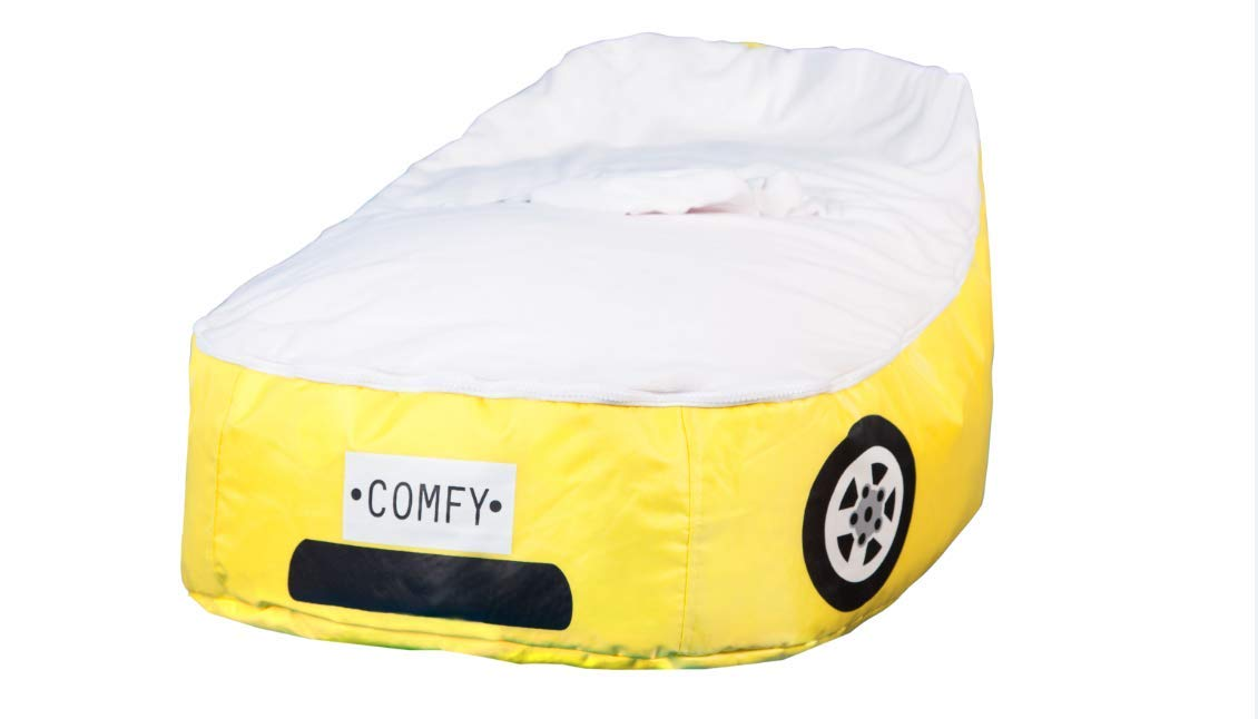 Terrific Yellow Car Baby Bean Bag Bed For Infants Price In Uae Machost Co Dining Chair Design Ideas Machostcouk