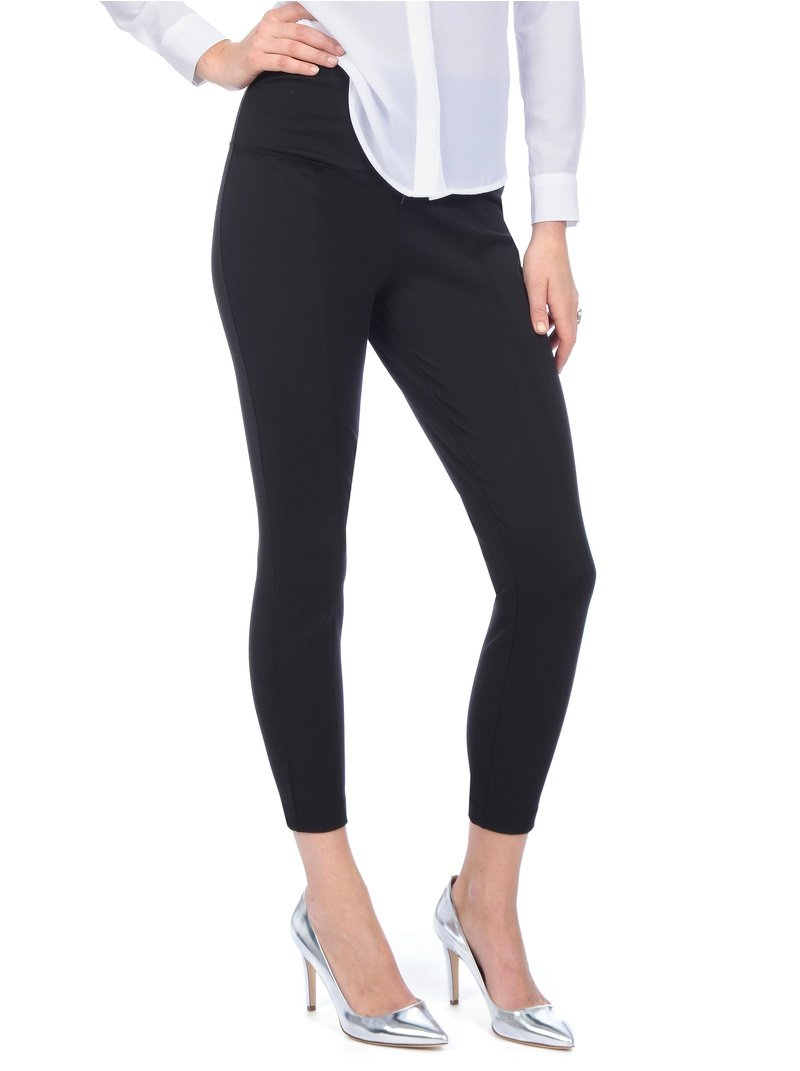 Lysse Women's Twill Cigarette Pant Style 9104C (XL, Black)