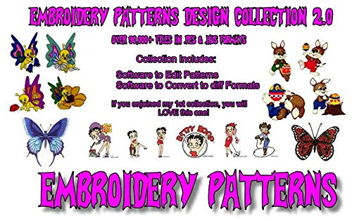 92,000 Embroidery Machine Patterns Designs Collection