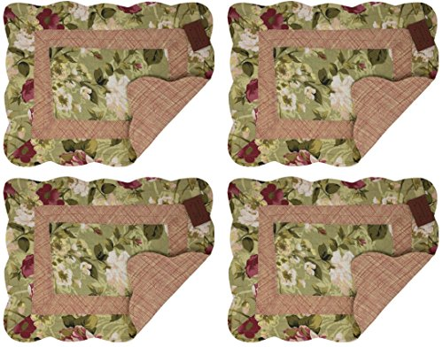 Quilted Cloth Placemats - 6