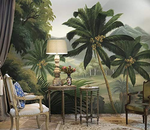 Amazon Com Murwall Forest Wallpaper Palm Trees Wall Mural