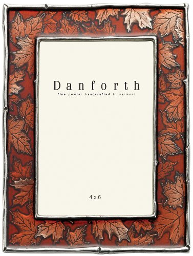 - Danforth - Maple Leaf 4x6 Pewter Picture Frame (Autumn)