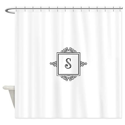 Amazon CafePress Fancy Letter S Monogram Shower Curtain