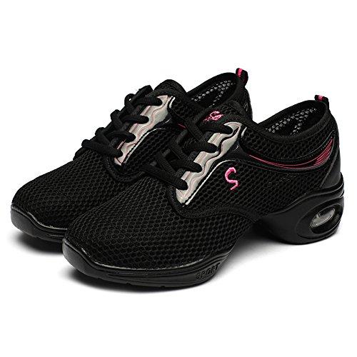 Danza Danza T11 YKXLM jazz danza Zapatos deporte Modernos Calzado baile del de de Mujeres Negro de ESA Modelo la zapatillas de q5Hw6pf5vx