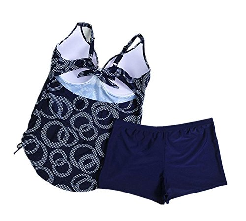 MIAO Mujeres traje de baño de gran tamaño Conservador Moda Beach Fertilizar Aumento Bikini Swimwear 2