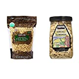 Kirkland Signature Organic Pine Nuts and Marcona Almonds Bundle - Includes Kirkland Signature Organic Pine Nuts (24 OZ) and Marcona Almonds (17.63 OZ)