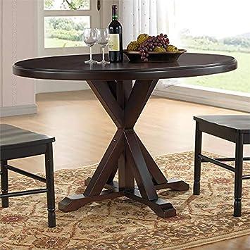 Amazon Com Carolina Classic Eila X Base Dining Table In Espresso Tables