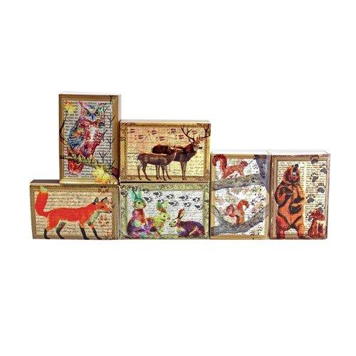 - World Buyers FOREST FRIENDS MINI MATCHBOX 6 PIECE SET 2.188x1.5x.5