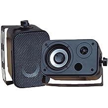 Pyle PDWR30B 3.5 Waterproof Speakers Pair Indoor/Outdoor Black 300W Max Consumer Electronics