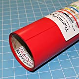 ThermoFlex Plus 15'' x 30' Roll Red Heat Transfer Vinyl, HTV by Coaches World