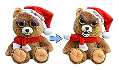 William Mark Feisty Pet Santa Bear: Ebeneezer Claws Stuffed Attitude Plush Animal
