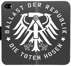Die Toten Hosen T4Y0T Funda iPhone 6 6S Plus 5.5 caja de la carpeta de cuero funda jD0YE2 funda caso del tirón del teléfono Para Niños duro