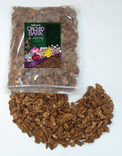 Rexius Douglas Fir Bark for Orchids - Medium Chip Size - 1 Gallon - Orchid Fir Bark