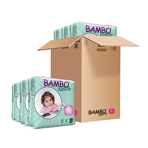 Bambo Nature Premium Baby Diapers - XXS Size, Monthly Pack 144 Count, for Premature Baby - Super Absorbent, Eco-Friendly