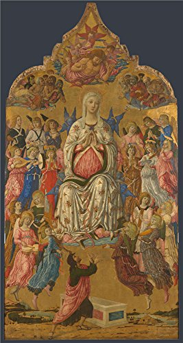 Oil Painting 'Matteo Di Giovanni-The Assumption Of The Virgin,1474' 20 x 38 inch / 51 x 95 cm , on High Definition HD canvas prints is for Gifts And Garage, Kids Room And Living Room decor, coupon (95% Copper Shield)