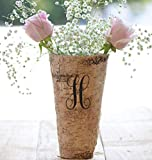 Personalized Birch Vase - Engraved Birch Vase - Wood Planter - Personalized Wedding Gift - 9'' Vase - Birch Bark Vase - Anniversary Gift