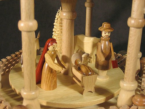 Dregano 4 Level Natural Wood Nativity Christmas Pyramid by Dregano (Image #4)