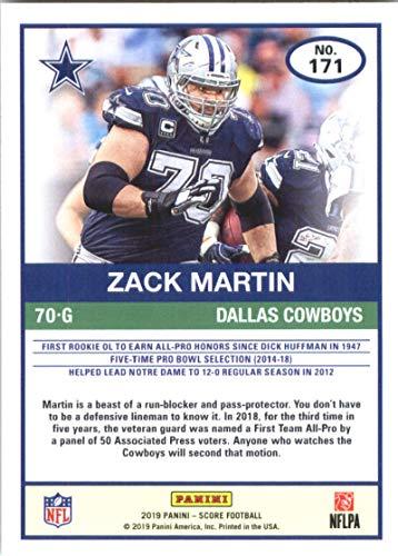 quite nice f7bb2 171fa Amazon.com: 2019 Score Football #171 Zack Martin Dallas ...
