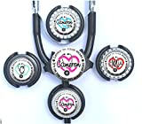 personalized stethoscope - Stethoscope Tag - Personalized Listen to your Heart Standard or Yoke Steth ID in 6 Colors with Name, Monogram, Occupation Title