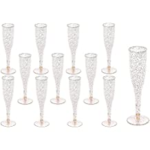 Plastic Classicware Glass Like Champagne Wedding Parties Toasting Flutes (1 Box = Quantity 60)