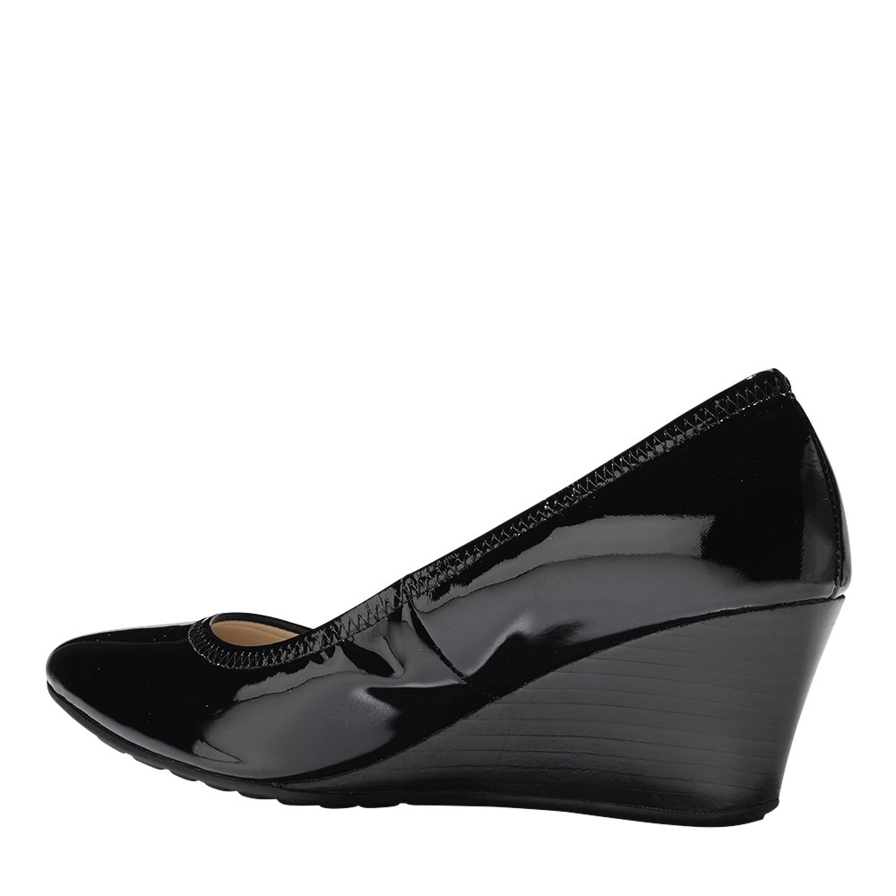 Cole Haan Womens Emory Luxe Wedge 65mm 6.5 Black Patent by Cole Haan (Image #4)