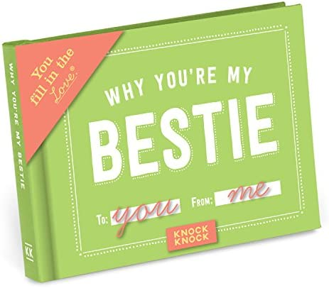 Knock Knock Why You're My Bestie Fill within the Love Book Fill-in-the-Blank Gift Journal, 4.5 x 3.25-Inches