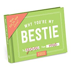 This little book contains fill-in-the-blank lines to describe why your best pal is the bomb. Just complete each line and voilà: you have a uniquely personal gift a BFF will read again and again. Make it as sly, silly, or sweet as you c...