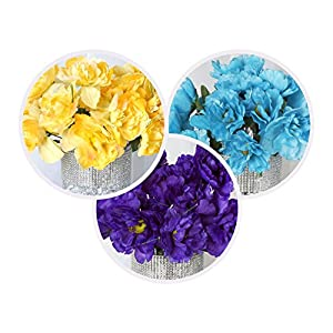 BalsaCircle 60 Silk Peony Flowers - 12 Bushes - Artificial Flowers Wedding Party Centerpieces Arrangements Bouquets Supplies 91