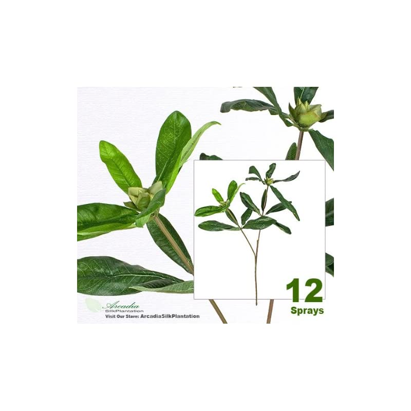 "silk flower arrangements arcadia silk plantation twelve 27"" rhododendron artificial sprays bendable stems"