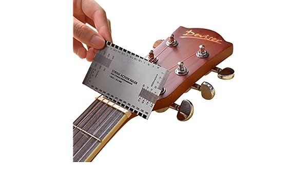 JXY 1 Regla para calibrar. Kit de medición para bajo eléctrico y guitarra acústica.: Amazon.es: Bricolaje y herramientas