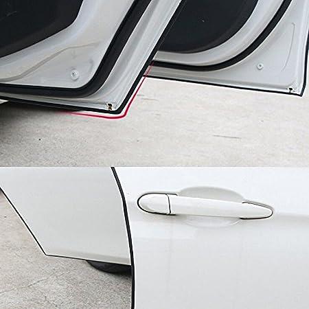 2 St/ücke Autot/ür Kantenschutz Gummi Streifen Kantenschutz 16FT 5 Meter Auto Gummidichtung Selbstklebend Zierleisten Protector