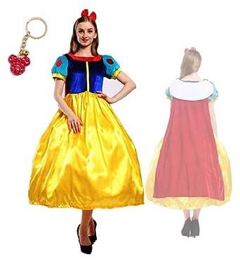 1b0156546512a 白雪姫 ディズニー コスプレ 衣装 ドレス クリスマス ハロウィン イベント レディース 大人 (M