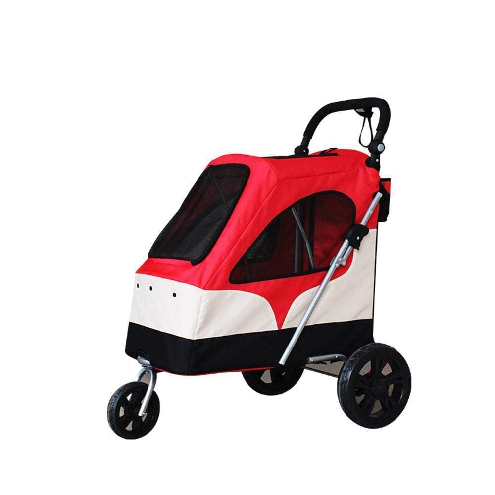Bredher's HouseYX Pet Stroller Cat Large dog cart folding easy carrying