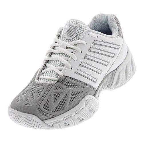 K-Swiss Junior Bigshot Light 3 Tennis Shoes (White/Silver) (5.5 US)
