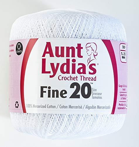 Coats Crochet Fine Crochet Thread, 20, White ()