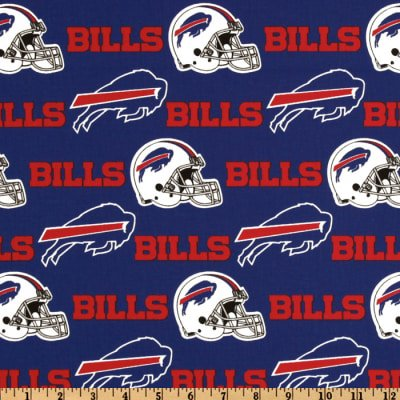 Country Snuggles Buffalo Bills Fabric by The Yard (Full -