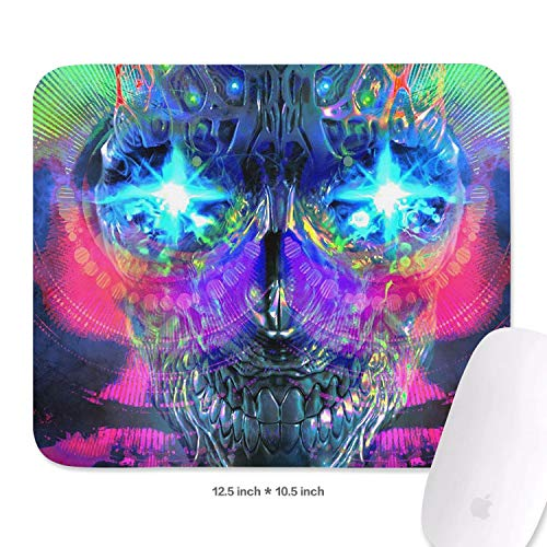 (Family Game Office Mousepad Trippy Trance Mix Art Lightweight Non-Slip Rubber Rectangular Mouse Pad)