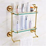LAONA European style all copper, gold round bottom twist base, bathroom fittings, towel rack, towel bar,Rack 2