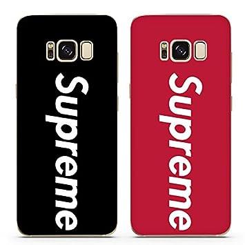 Supreme Samsung Galaxy S8 TBU Silicona Funda Cover Carcasa y Fundas Jordan (Rojo)