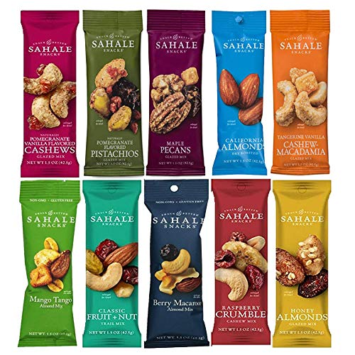 (Sahale Snacks All Natural Nut Blends Grab And Go Variety 10-Flavors (1.5 oz x 10 CT Packs))