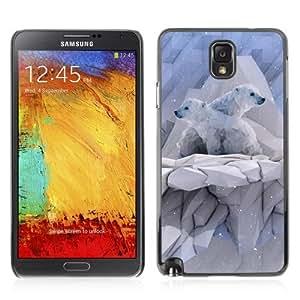 YOYOSHOP [Cool Polygon Polar Bear] Samsung Galaxy Note 3 Case